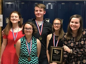Three Middle School drama students won awards in the UIL One-Act Play Competition.