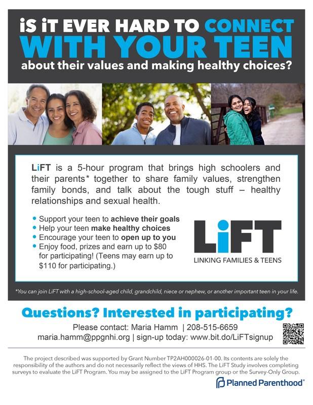 LiFT Linking Families & Teens Thumbnail Image