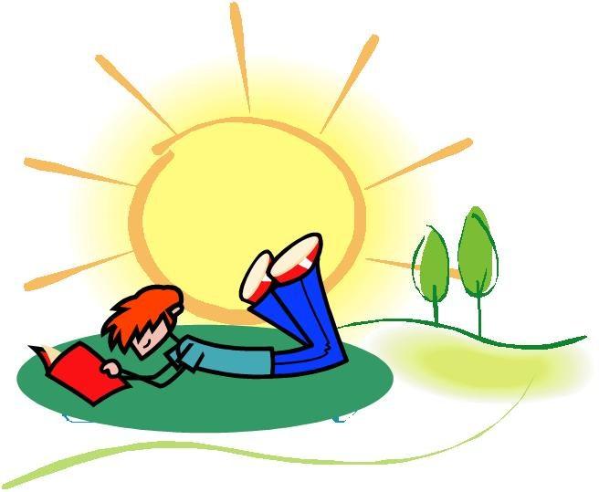 boy reading in sun