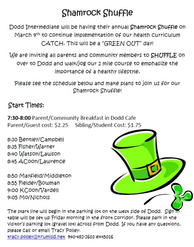 Shamrock Shuffle Information! Thumbnail Image