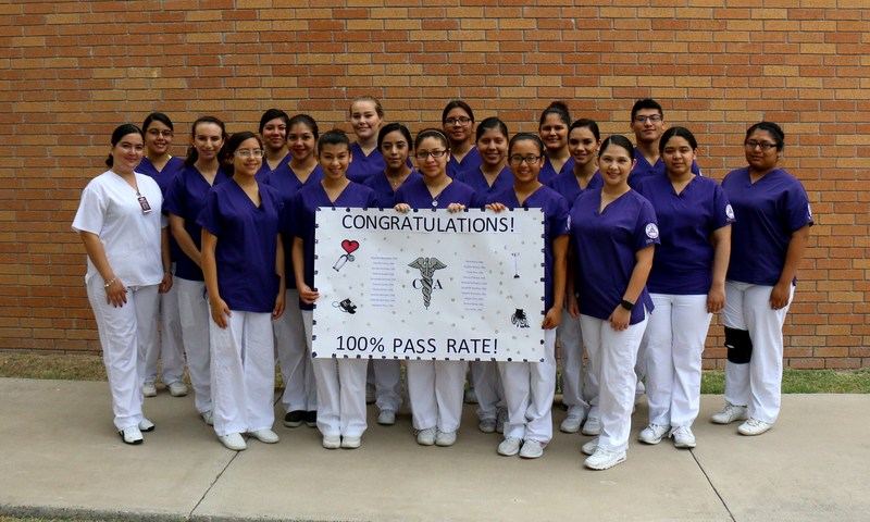 Mission HS CNA program students who all passed the CNA state exam.