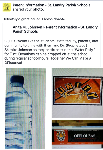 school project of water donation