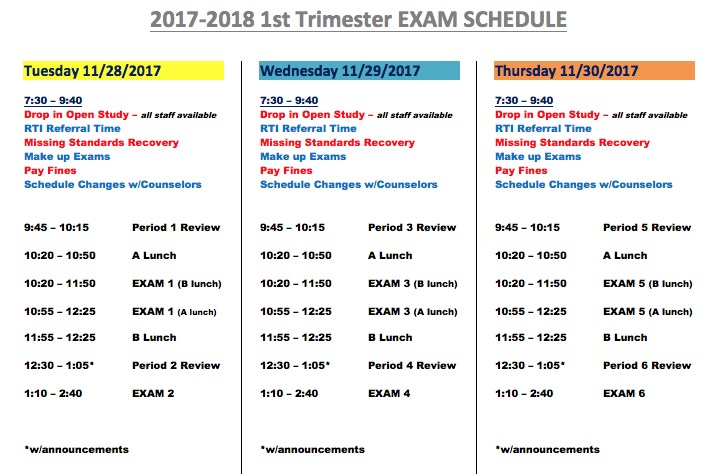Exam Schedule Now Available Featured Photo