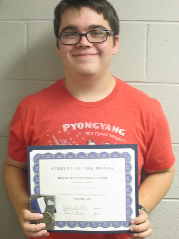 Brookhaven September Student of the Month Thumbnail Image