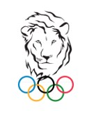 Lincoln Lion Logo- Olympic Rings