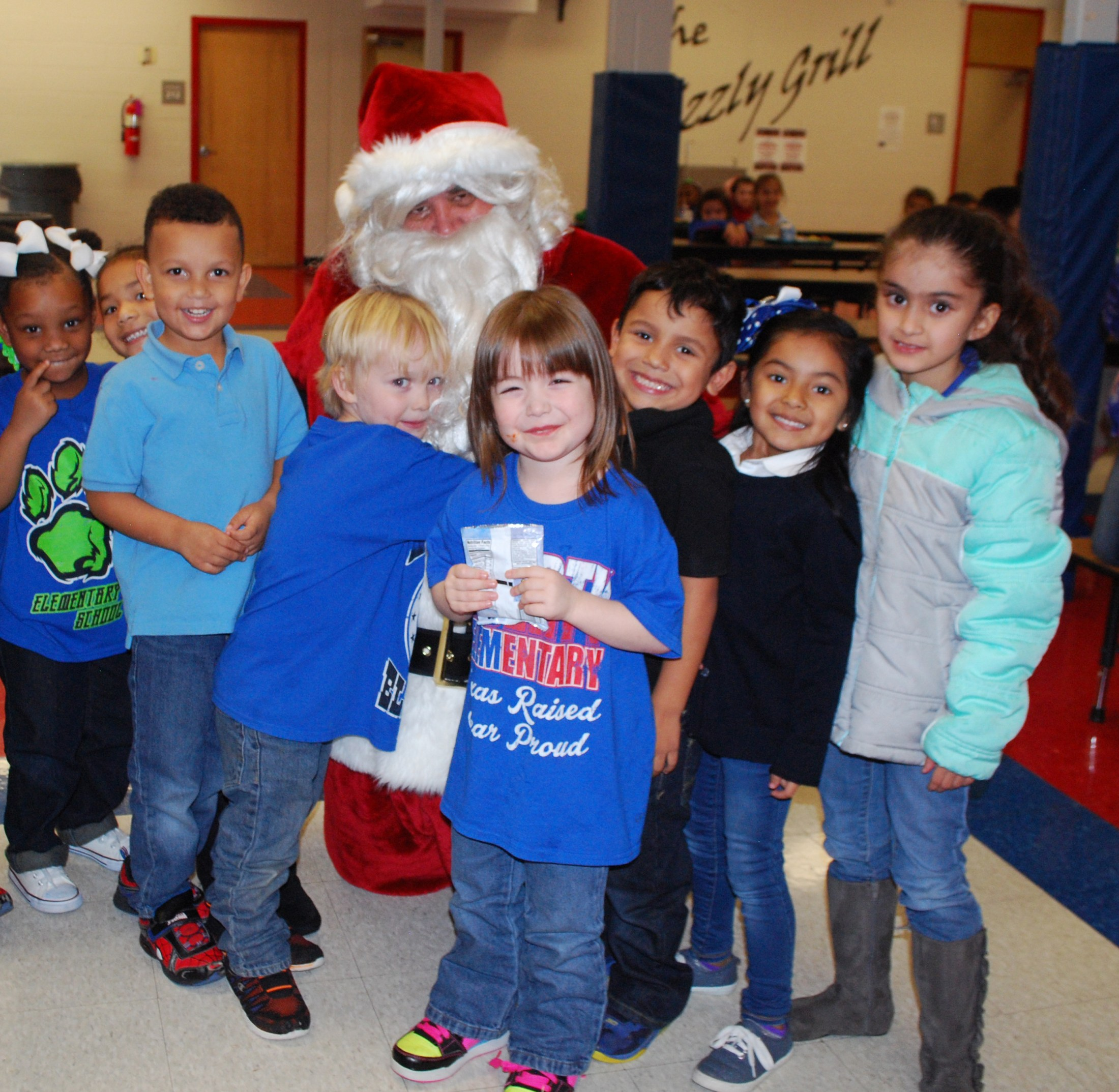 Santa joined students and teachers