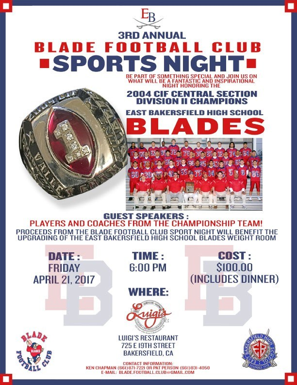 Blade Booster Club Flyer