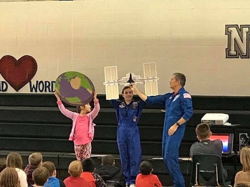 Astronaut speaks to kids