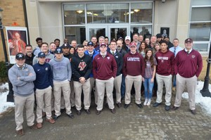 PJ Football players group picture NLI outside