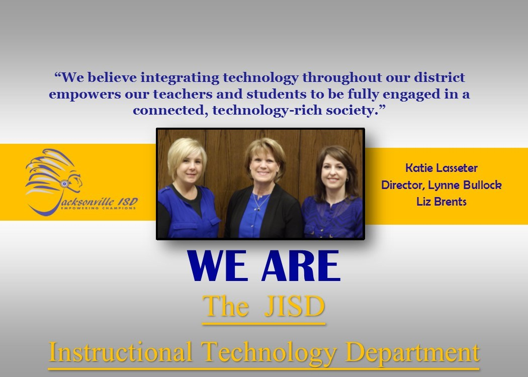 picture of three Instructional Technology staff members