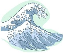Redondo Shores Wave Logo