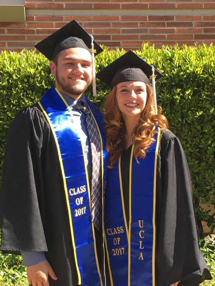 Lauren and Joe graduating from UCLA