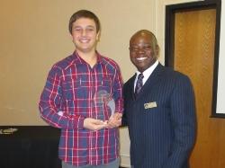 SAHS Student Alexander Honeycutt with Signal Hill Mayor Edward H_J_ Wilson - Press Release.jpg