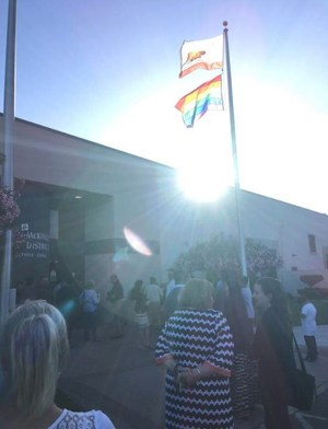 LGBTQ Flag Raising