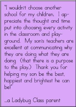 preschool parent testimonial