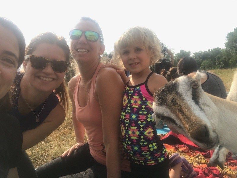 Goat Yoga with some PRA teachers