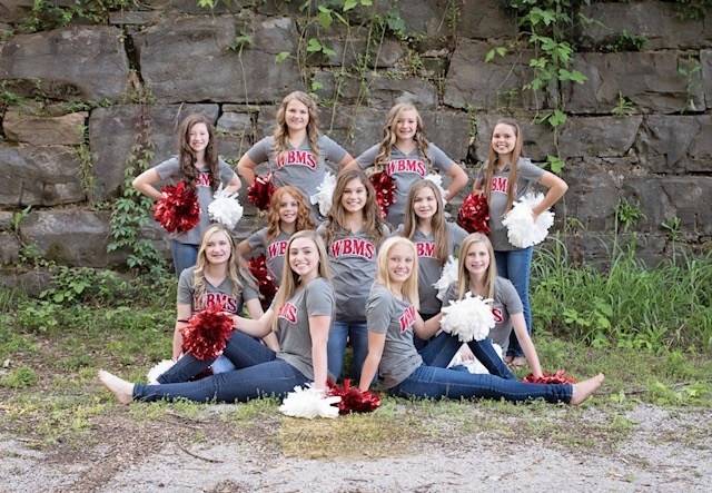 WBMS Cheerleaders 2017-18