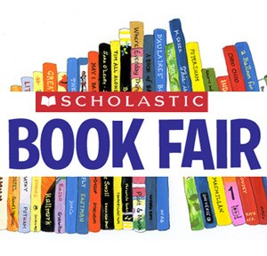 line of books with scholastic book fair
