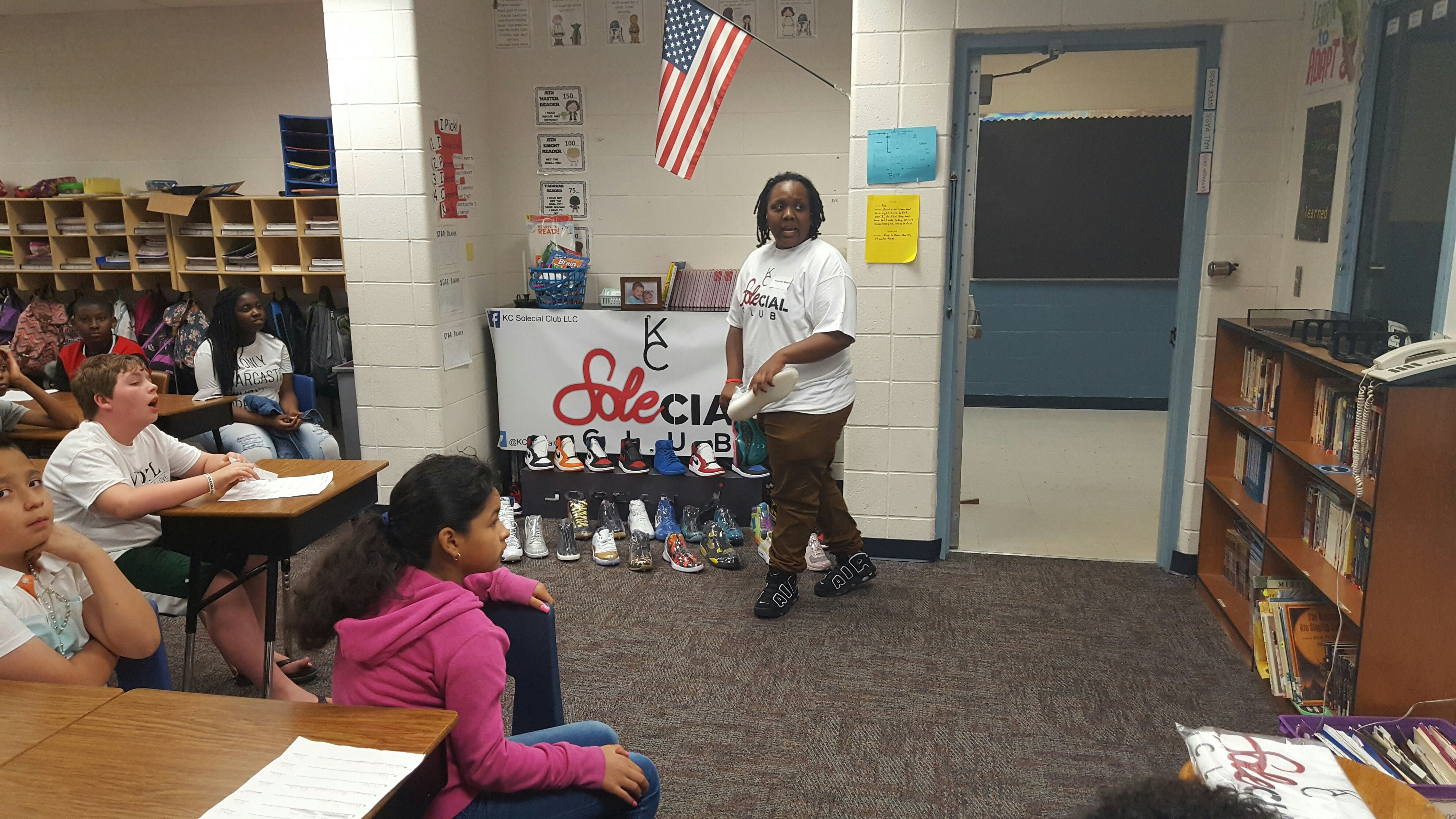 Solecial Club KC gives career day presentation.