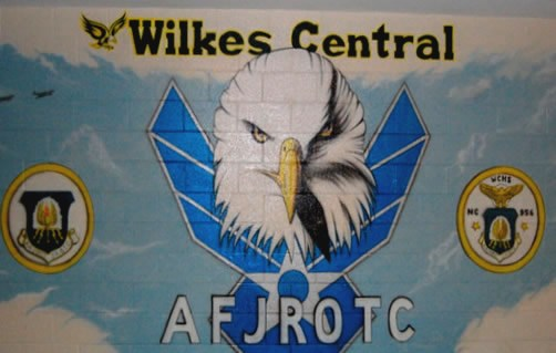 Wilkes Central AFJROTC Mural