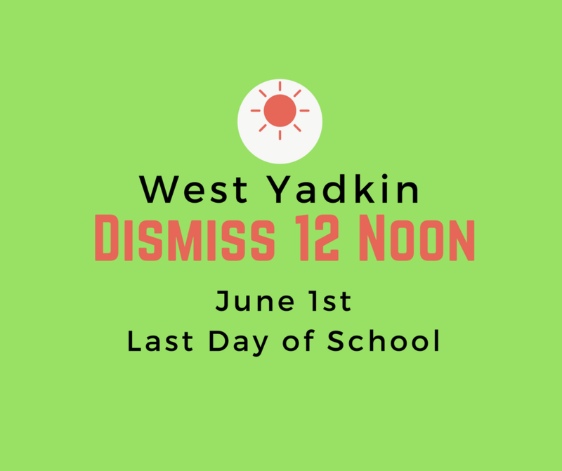 Last Day of School is June 1st! Thumbnail Image