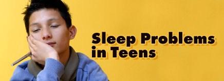 Teen Sleeping with title Sleep Problem in Teens