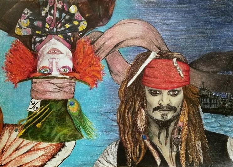 pirates of Caribbean drawing