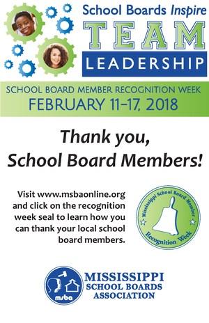 School Board Recognition Week Flyer.