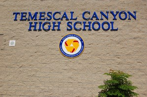 Temescal Canyon High School image of school entrance..