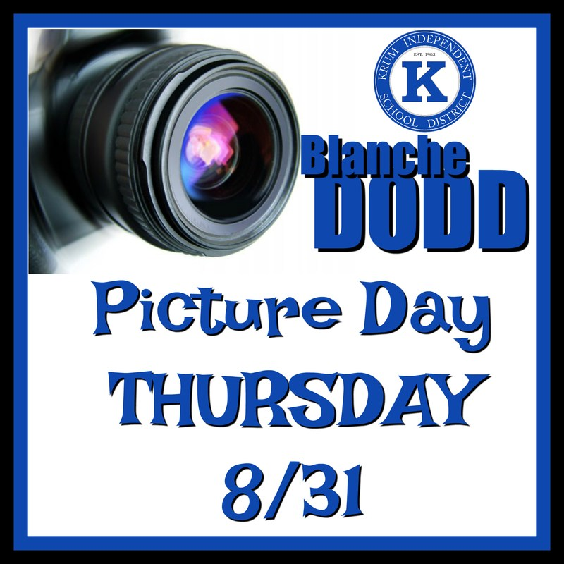 Dodd Picture Day is Thursday Aug. 31st Thumbnail Image