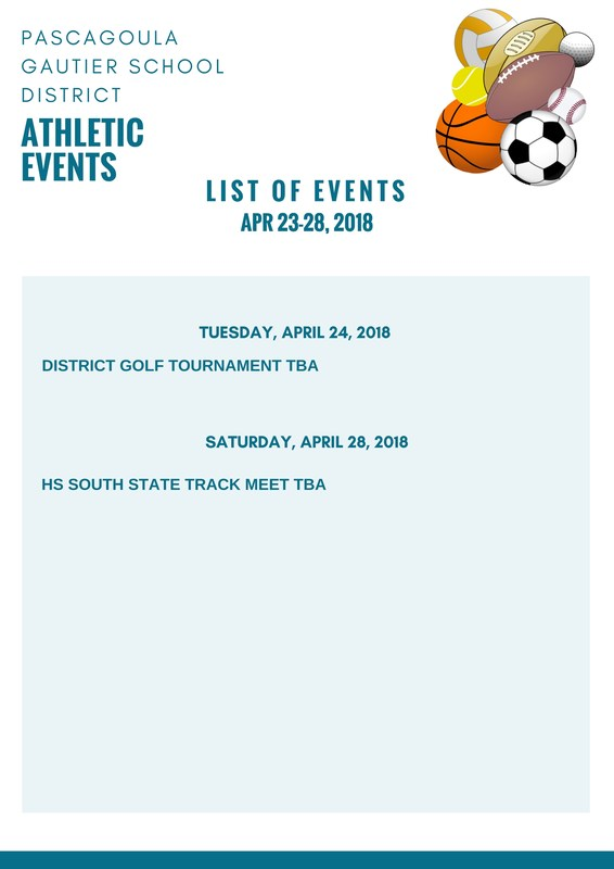Athletic Events for Week of April 23, 2018