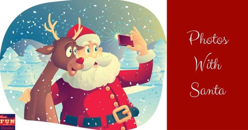 Santa and Rudolf taking a selfie