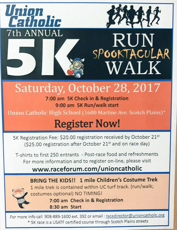 Union Catholic will hold its 7th annual 5-K Spooktacular Run on Oct. 28 Thumbnail Image