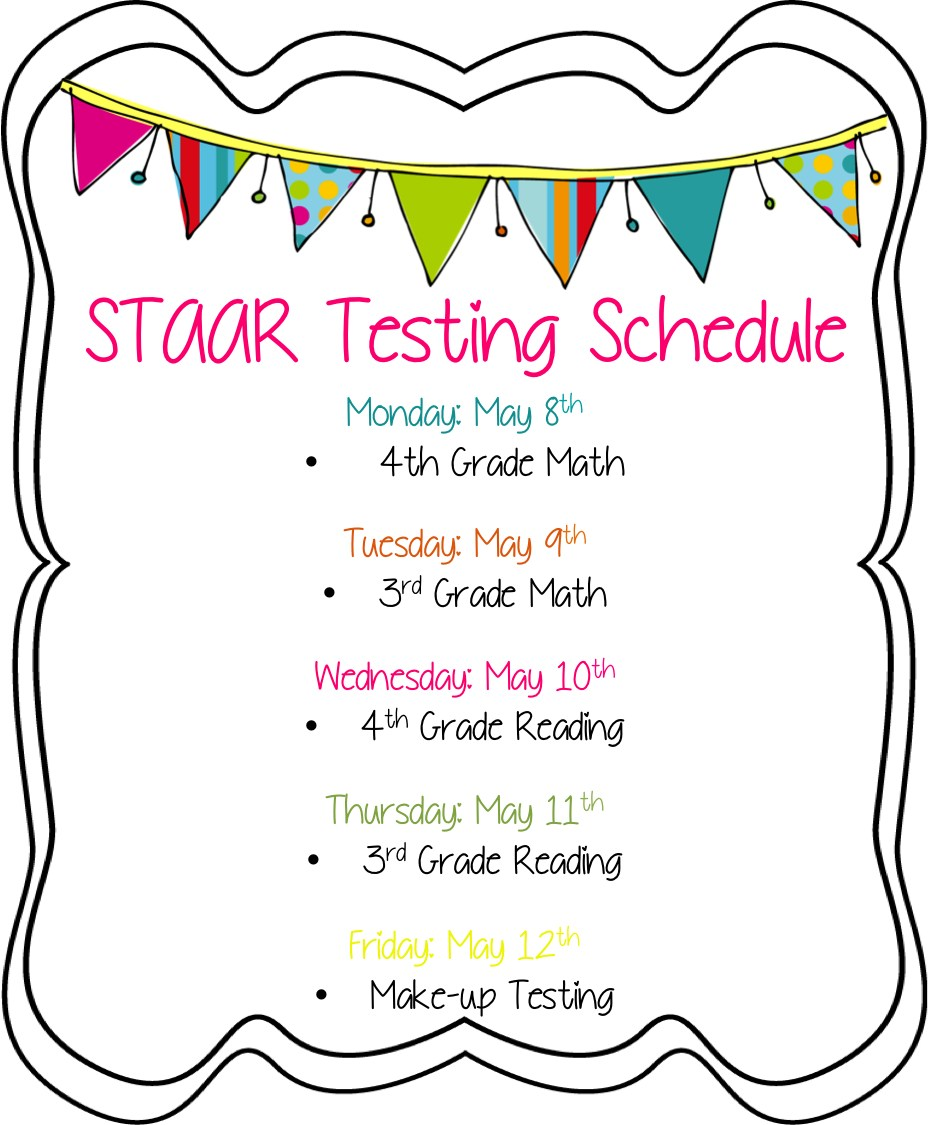 STAAR Testing Schedule