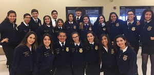 Group picture of Veterans Memorial High School FFA students