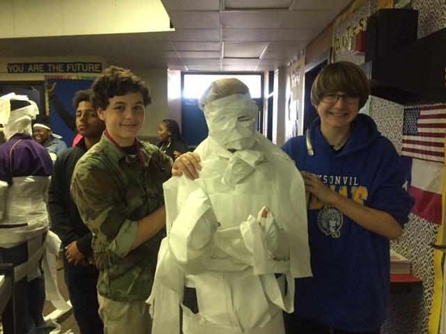 Choir tuxedo mummy!