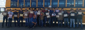 Group picture of the 27 welders from MHS