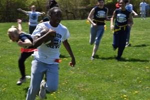 Shamyjha Price '19 running for touchdown