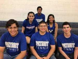 Group picture of the six students named to All-District Tennis Teams
