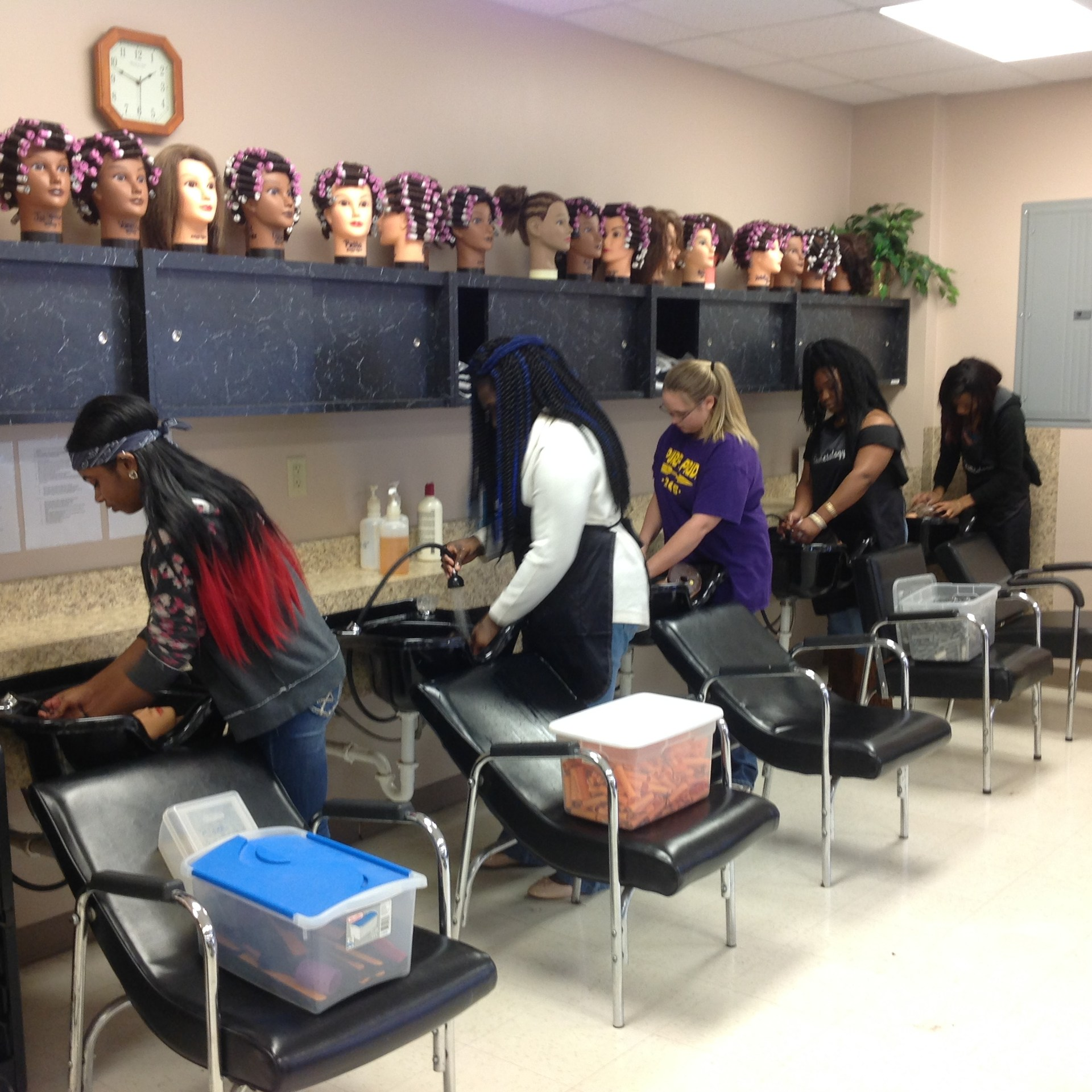 cosmetology students