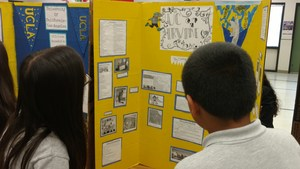 sixth grader presenting college project
