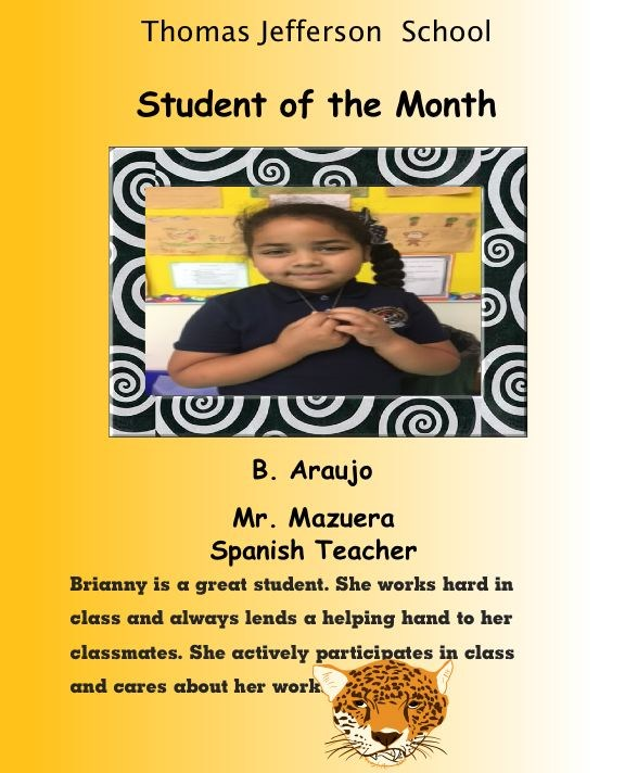 spanish student of the month