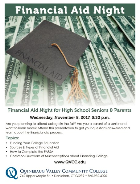 QVCC Financial Aid Night for High School Seniors & Parents Thumbnail Image