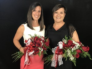 Marissa Torres and Amanda McKnight were selected as the Region XI Teachers of the Year.