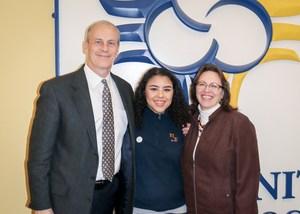 President Tim Bopp, Natalie Nieves, Principal Marianne Lynch