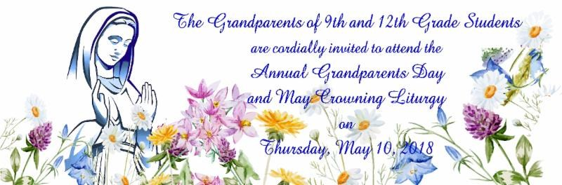 Grandparents Day and May Crowning Liturgy for 9th and 12th Grades Image