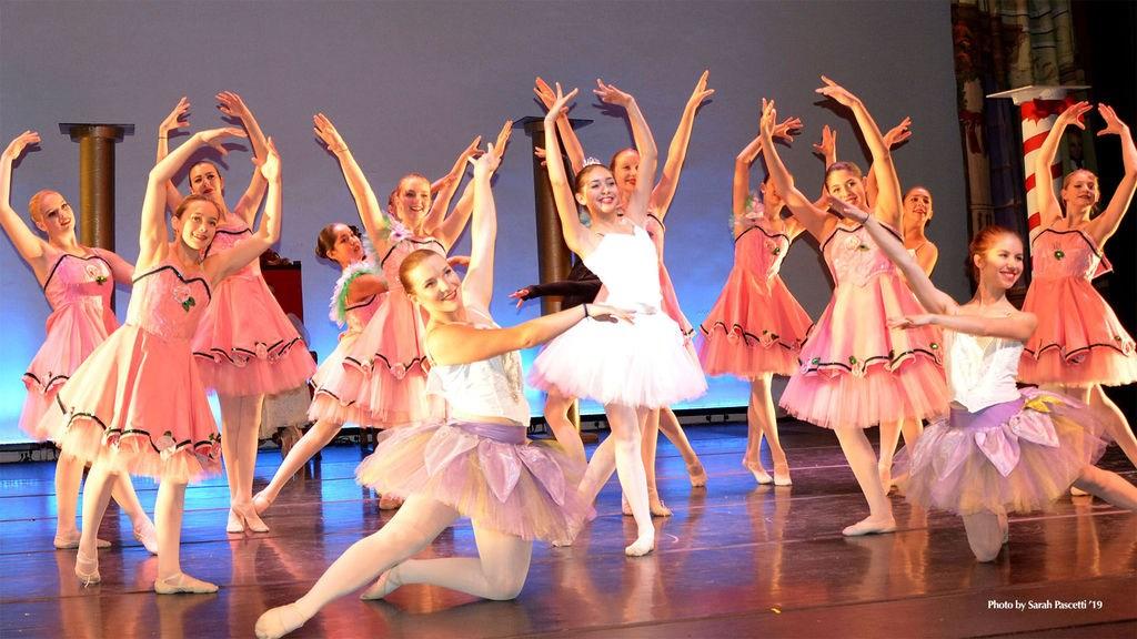 ballerinas during Nutcracker