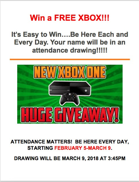 Free X-Box Drawing for Students February 5 - March 9 Thumbnail Image