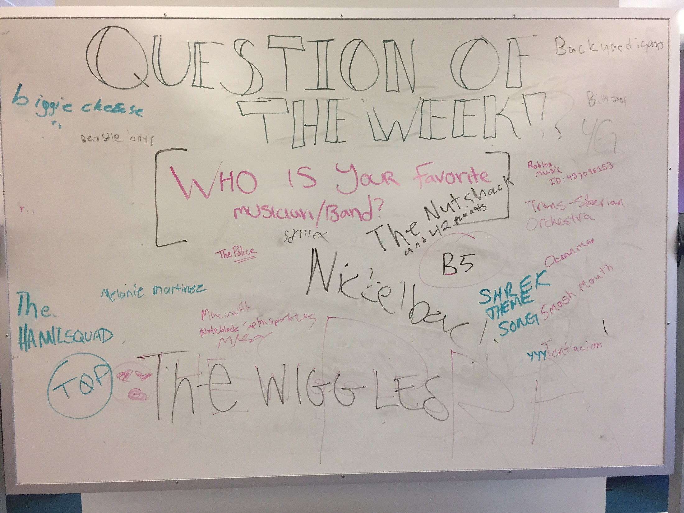 Question of the Week - Who is your favorite musical/band?