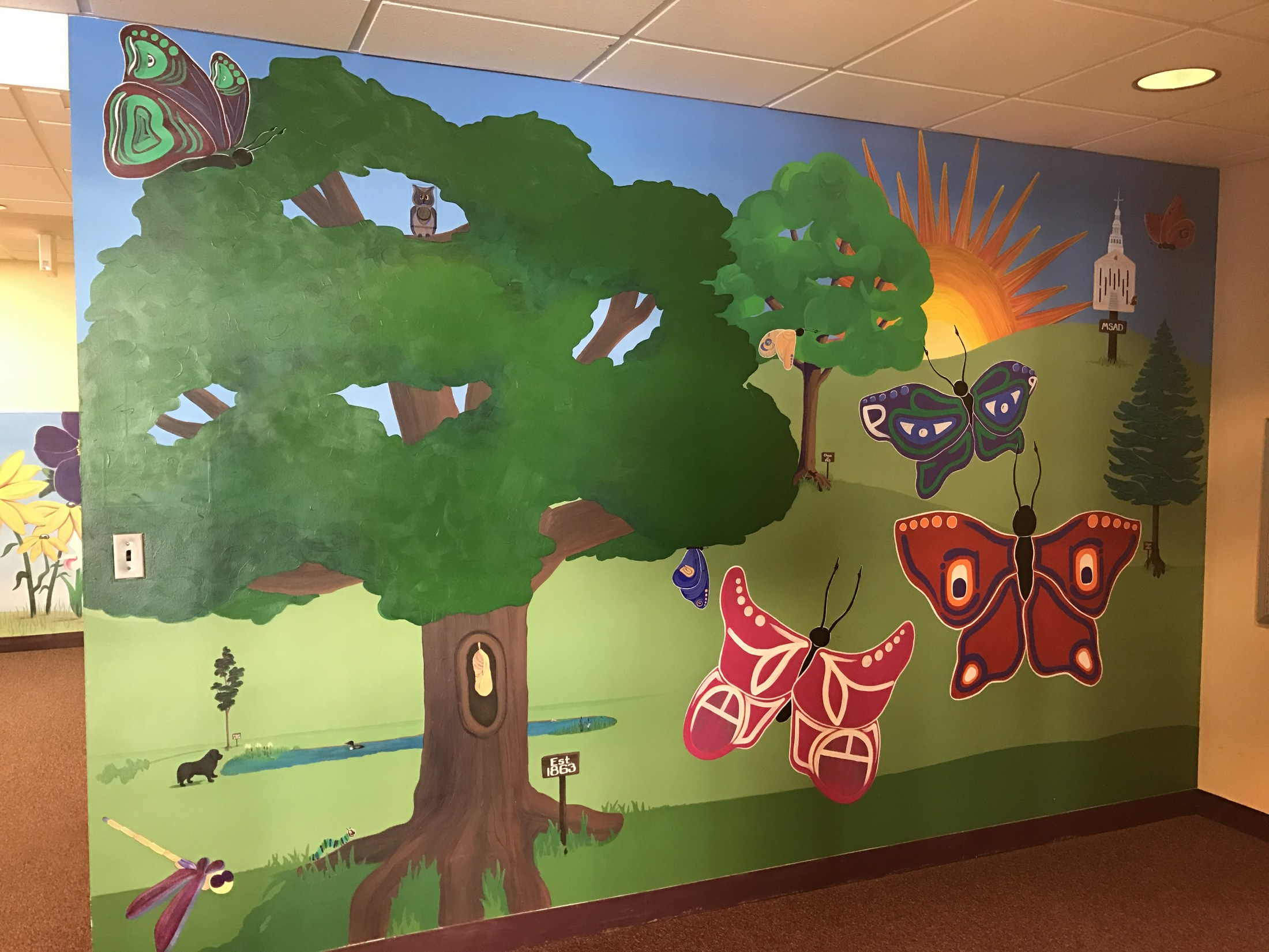 Image of a mural in Quinn Hall